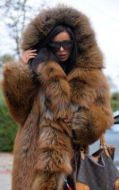 ROYAL FOX FUR LONG COAT HOOD CLAS OF CHINCHILLA RUSSIAN SABLE MINK SILVER JACKET