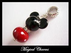 Mickey Mouse Pandora Charm, Mickey Mouse Pendant, Disney Style Charm, Disney Style. $32.00, via Etsy.