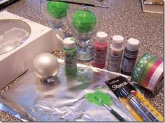 how to paint your own bulbs and letting the dry