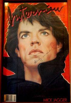 vintage interview magazine - Mick Jagger