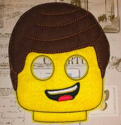 Lego movie inspired Emmet mask in the hoop Project ith Embroidery Design Costume, Cosplay, Fancy dress, Masquerade, Photo booth, Prop. by TheHoopBooteek on Etsy https://www.etsy.com/listing/251616577/lego-movie-inspired-emmet-mask-in-the