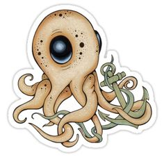 Octopus sticker by L