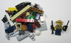 50+ LEGO Pieces With Custom Minifigure Police Man Washed and Sanitized NEW(WF13)