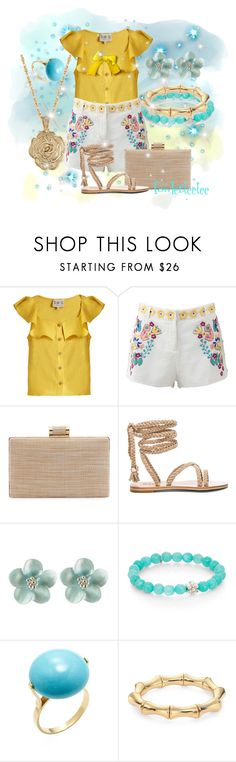 """Something Pretty"" by fowlerteetee ❤ liked on Polyvore featuring Sea, New York, Antik Batik, La Sera, Anzie, Gucci and 2028"