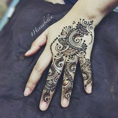 Party Henna with loads of swirl! <3 #hennabella