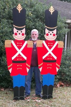 "Giant Toy Soldiers - This Christmas Yard Art Decoration was MADE-TO-ORDER by ""Art de Yard"".  Design ©The Winfield Collection"