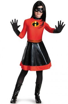 Disney Costumes An Adorable Disney's the Incredibles: Violet Tween Costume. Creative Collection of The Incredibles Costumes for Halloween at PartyBell. This costume is going to be the most popular Halloween costume idea for Tween Halloween Costumes, Diy Superhero Costume, Hallowen Costume, Girl Costumes, Adult Costumes, Costumes Kids, 1950s Costumes, Costume Ideas, Superhero Costumes For Girls