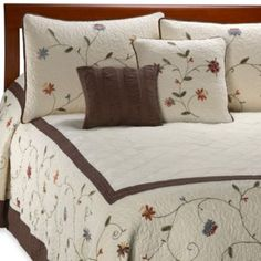Buy Ambria Chocolate King Bedspread from Bed Bath & Beyond