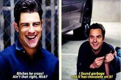 """When we found out Winston was colour blind. 28 """"New Girl"""" Quotes Guaranteed To Make You Laugh Every Time New Girl Quotes, Tv Quotes, Movie Quotes, 2pac Quotes, Qoutes, Best Tv Shows, Best Shows Ever, Favorite Tv Shows, New Girl Funny"""