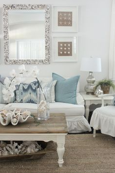 Thanks so much for stopping by the cottage today! We are so happy to be finished with all of our recent renovations, and are LOVING the results. I pulled out my favorite large aqua pillows for spring and I'm having fun decorating the house with a touch of spring time…. Today, I'm sharing photos from …