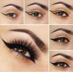 Day Makeup, Makeup Tips, Beauty Makeup, Makeup Looks, Makeup Tutorials, Makeup Ideas, Eyeliner Tutorial, Eyeshadow Makeup, Makeup Brushes
