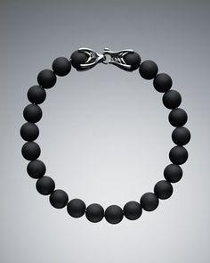 Black Onyx Spiritual Bead Bracelet by David Yurman at Neiman Marcus.