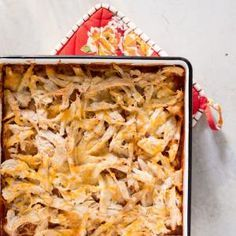 """This Chicken Tamale casserole is a quick and easy swap for more traditional tamales - but just as delicious! """"I came up with this Mexican dish to satisfy my cravings for the tamales I had at Mexican restaurants when I was growing up in Houston. Homemade tamale recipes are too time-consuming to prepare for weeknight meals, but I discovered a corn bread mix approximates the flavor."""" —Risë Minton, Smyrna, GA"""