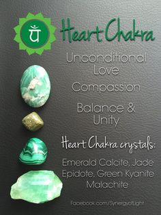 Heart Chakra Crystals - loved & pinned by www.omved.com