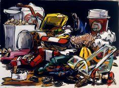 Lisa Milroy Garbage, 2003 Oil on Canvas order/disorder A Level Art Themes, Lisa Milroy, Still Life Artists, Still Life Drawing, Classic Theme, Gcse Art, Environmental Art, Teaching Art, Famous Artists