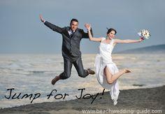The jump wedding photo, #beach wedding