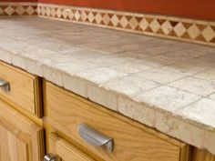 [ Slate Tile Countertop With Nice Border For The Backsplash Your Home Improvements Refference Ceramic Countertops Kitchen ] - Best Free Home Design Idea & Inspiration Kitchen Counter Tile, Outdoor Kitchen Countertops, Slate Kitchen, Kitchen White, Kitchen Storage, Kitchen Cabinets, Porcelain Countertops, Concrete Countertops, Countertop Backsplash