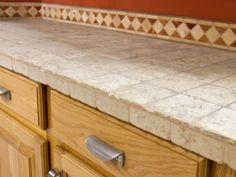 Beauty Durability Kitchen Tile Countertops