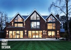 Contemporary windows made in Denmark - Idealcombi UK Beautiful House Plans, Modern House Plans, Modern House Design, Modern Houses, Beautiful Homes, Building Design, Building A House, Building Ideas, Self Build Houses