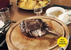 Bon Appetit - Pan-roasted Rib Eye with bearnaise sauce