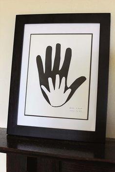 Tableau mains fête des pères