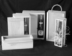 All natural, wood wine boxes & crates in single, double, and triple bottle sizes. Great gift ideas! Made locally in Denmark, WI!!!