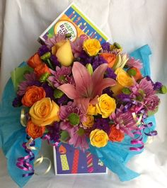 Happy Birthday surprise Special Events, Floral Wreath, Happy Birthday, Wreaths, Table Decorations, Flowers, Design, Home Decor, Board