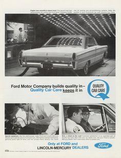 1965 Ford Mercury Car Dealership Photo Ad Retro by AdVintageCom