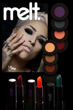 Melt Cosmetics was started with love, by best friends, and they've created lipstick colors—like have achieved cult status. Diy Makeup, Makeup Tools, Beauty Makeup, Makeup Ideas, Beauty Tips, Makeup Collage, Melt Cosmetics, How To Apply Makeup, Lipstick Colors