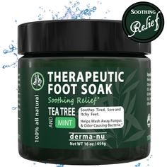 Therapeutic Foot Soak Š—– Epsom, Dead Sea Salt, MSM and Tea Tree Oil. Fight Toenail Fungus, Relieve Aches and Pains, Sore Feet and Muscles, Arthritis and Itchy Feet. Natural and Organic Bath Salts Š—– 16oz -- To view further for this item, visit the image link.