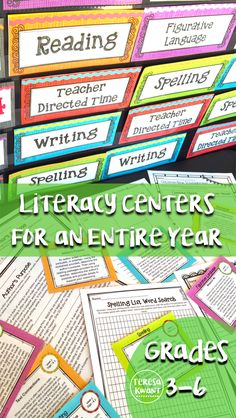 Monthly Themed Literacy Centers for and Grade Bundle Literacy centers are a great way to keep students engaged during language arts time in your classroom. Teachers, this set has all the activities, worksheets, task cards, and instructio Reading Stations, Literacy Stations, Reading Centers, Literacy Centers, Literacy Skills, Writing Centers, 4th Grade Ela, Third Grade Reading, 3rd Grade Classroom