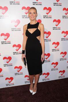 Gwyneth Paltrow stuns in a black cutout dress