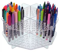 Clear Colored Pencil Organizer