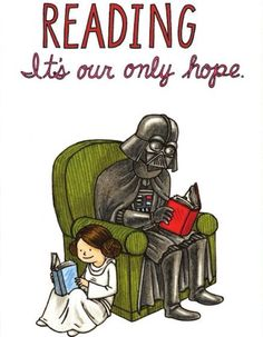 Star Wars+reading=perfection on a whole new level.