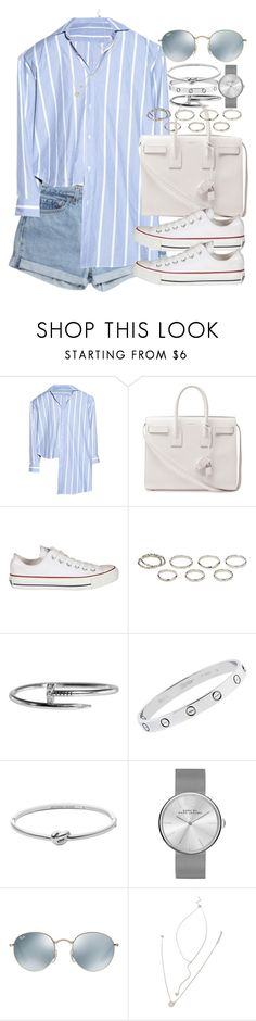 """Sin título #4012"" by hellomissapple ❤ liked on Polyvore featuring Levi's, Yves Saint Laurent, Converse, Akira, Cartier, Michael Kors, Marc by Marc Jacobs, Ray-Ban and Forever 21"
