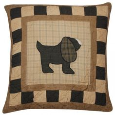 Rustic style doggy cushion.  http://www.worldstores.co.uk/p/Woven_Magic_Primitive_Sampler_Dog_Cushion.htm