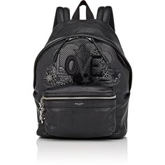 Saint Laurent Women's City Mini-Backpack (€1.365) ❤ liked on Polyvore featuring bags, backpacks, black, leather zipper backpack, leather backpack, mini backpack, mini rucksack and mini leather backpack