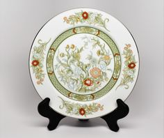 MIKASA FINE CHINA Dinner Plate ~ Set of 4 ~ Pattern Kabuki L9011 ~ Made in Japan by REDSTONEVINTAGE on Etsy