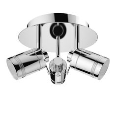 Click here to find out more about With 3 fully adjustable spotlights, this superb bathroom light gives you the flexibility to aim light where you need it most. Bathroom Chandelier, Bathroom Ceiling Light, Bathroom Lighting, Ceiling Lights, Bathroom Spotlights, Contemporary Bathrooms, Downlights, Chrome Finish, Polished Chrome