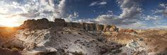Grand Staircase Escalante - Entre Page et Kanab. Photographie panoramique avec de multiples expositions.
