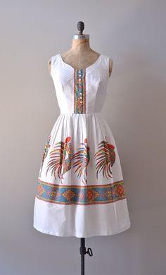 1950s dress / vintage 50s dress / novelty print / by DearGolden