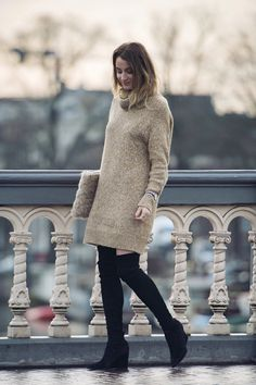 Suede overknee boots fashion blogger | Queen of Jet Lags