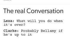 Bellamy And Clarke!!!!!!❤❤❤❤ on We Heart It
