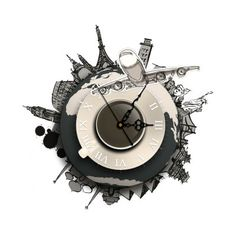 SZ   044 3D Creative Wall Clock Removable Wallpaper Sticker. Contemporary  ...