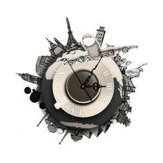 SZ   044 3D Creative Wall Clock Removable Wallpaper Sticker. Contemporary  ...