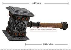 Doomhammer World Of Warcraft Thrall Hammer Armas WOW Cosplay Shaman Tactical Tomahawk Resin . Toy Swords, Blender Models, Armas Ninja, India Facts, Cheap Toys, New Fantasy, Wow Art, Thors Hammer, Horde