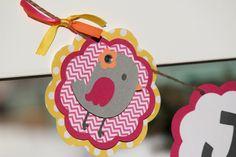 Little Bird Banner Baby Shower Birthday Chevron by paperpatterns, $28.00