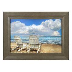 Beach Chairs Framed Art Print   Kirklands