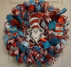 Dr. Seuss Wreath Teacher Wreath Classroom by Texascaseyscreations