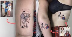 Top 15 des tatouages nostalgiques de Pigment Ninja les photos de famille sur ta peau